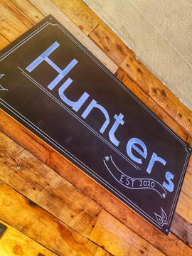 Hunters of Haworth sign