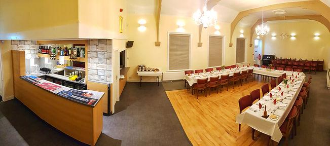 Inerior of lodge of three graces masonic hall