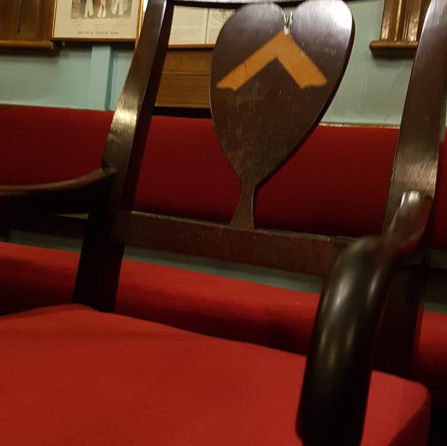 Masonic Square chair detail 408 haworth