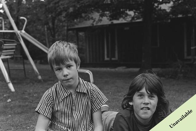 Unidentified children at Mountain Lake Biological Station
