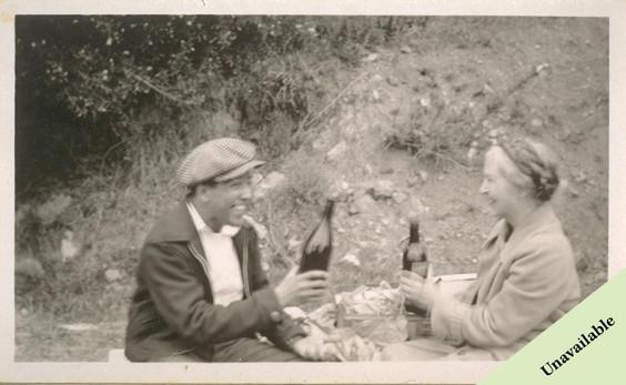 Una Jeffers with Langston Hughes