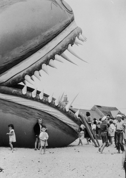 Photograph of the Nantucket Sea-Serpent Hoax, crafted by the puppeteer Tony Sarg, 1937, courtesy of The Public Domain Review