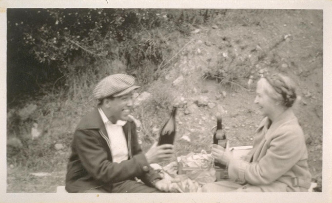 Photograph of Una Jeffers with Langston Hughes, 1934, courtesy of the Bancroft Library, University of California, Berkeley