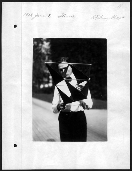 Photograph from the journal of Alexander Graham Bell, 1903, courtesy of the Library of Congress
