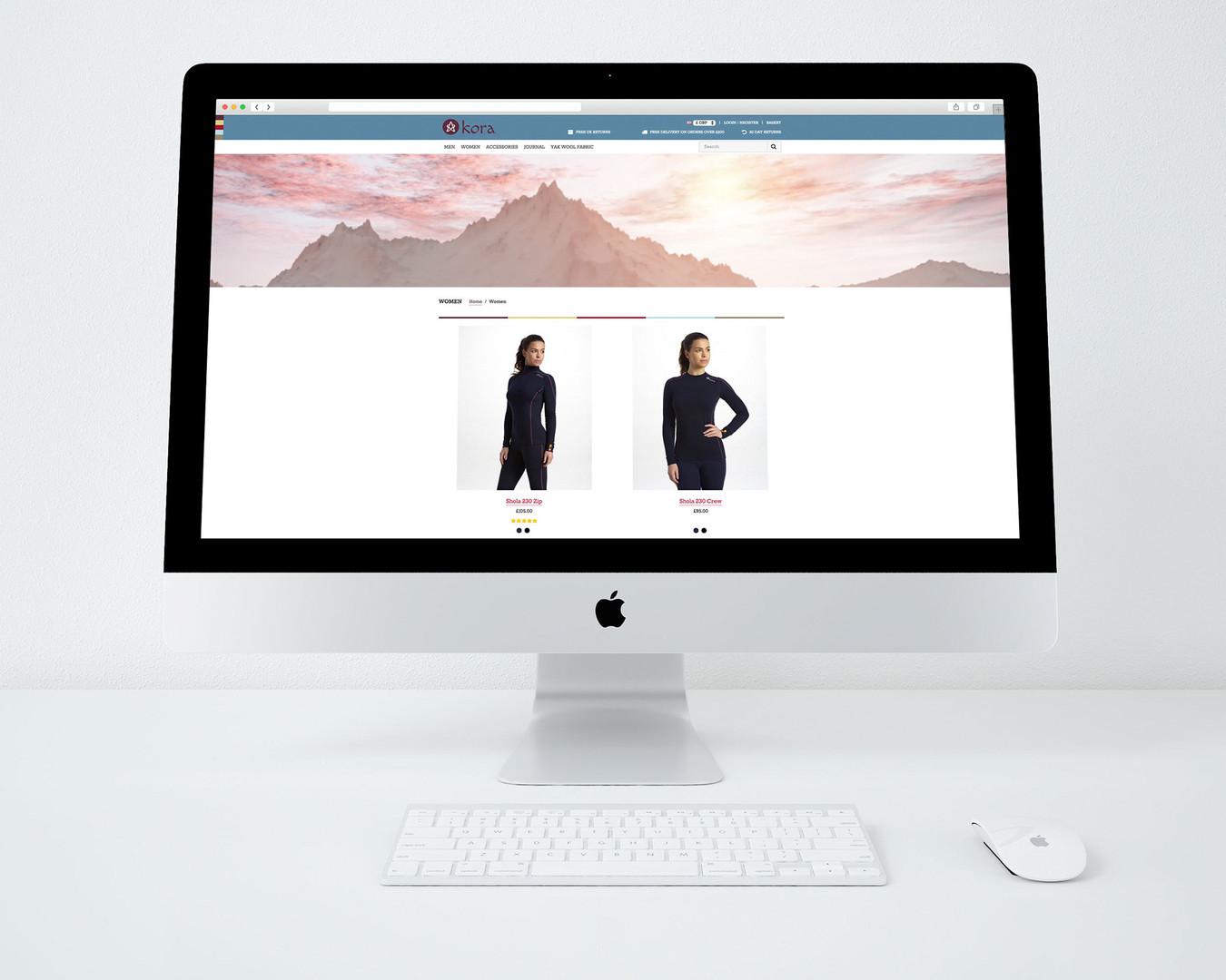 kora e-commerce website