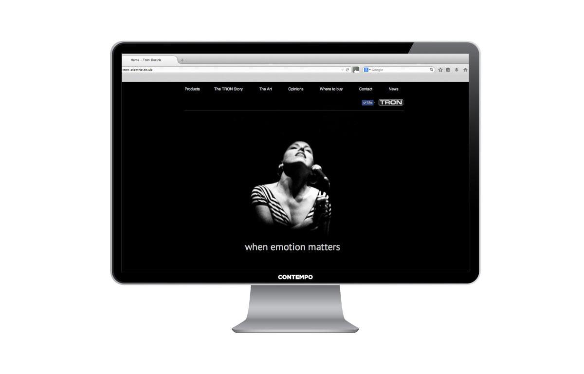 Tron website design