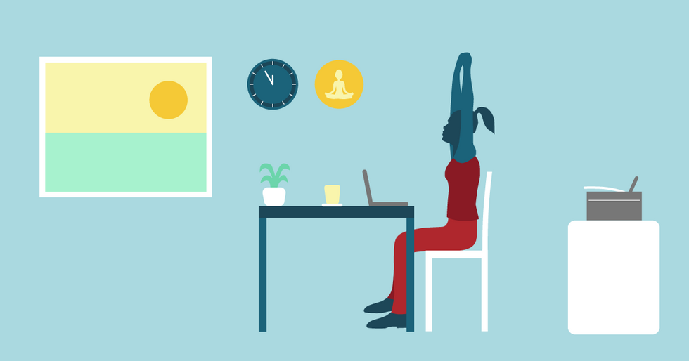 Top 5 yoga poses to practise at work