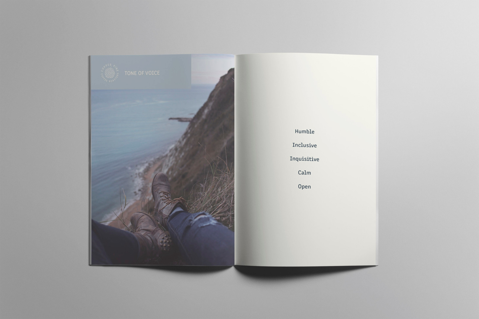 Copper Pine Coffee brand book & style guide