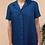 Thumbnail: Vintage Minimal Pleated Dress in Navy Blue