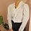 Thumbnail: Vintage 90s Ruffle Collar Blouse in White