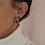 Thumbnail: Vintage 90s Enamel Half Hoop Earrings