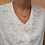 Thumbnail: Vintage Embroidered Collar Blouse in White