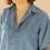 Thumbnail: 90s Vintage Silk Shirt in Blue - (EU46)