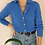 Thumbnail: Vintage Hand Knitted Cardigan in Blue