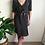 Thumbnail: Vintage Silk Polka Dot Dress in Black