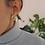 Thumbnail: Vintage 70s Cream Enamel Statement Earrings