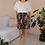 Thumbnail: 90s Vintage Floral Playsuit in White  - (EU40-42)