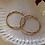 Thumbnail: Vintage 80s Gold Plated Hoop Earrings