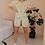 Thumbnail: Vintage Floral Playsuit in Cream - (EU40)
