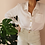 Thumbnail: Vintage Minimal Button Up Blouse in White with Gold Buttons
