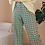 Thumbnail: Vintage 70s High Waisted Flares in Green Print, W28-30/L29