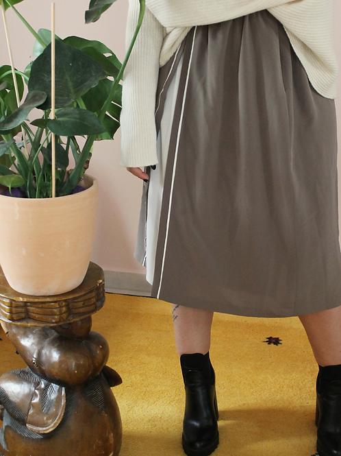 Vintage Midi  A- Line Skirt in Beige