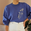 Thumbnail: Vintage 90s Embroidered Sweater in Blue