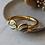 Thumbnail: Vintage 90s Enamel Bangle Heart Bracelet