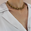 Thumbnail: Vintage 80s Mesh Chain Necklace with Garnet Rhinestones