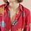 Thumbnail: 90s Vintage Floral Print Blouse - (EU44-46)