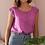 Thumbnail: 90s Vintage Silk Top in Purple - (EU44)