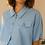 Thumbnail: French Vintage Collar Blouse in Pastel Blue  - (EU48)
