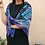 Thumbnail: Vintage 90s Soft Long Floral Scarf in Purple
