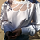 Thumbnail: Vintage Romantic Embroidered Blouse in White