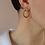 Thumbnail: 70s Vintage Enamel Door Knocker Earrings