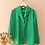 Thumbnail: Vintage 90s Silk Button Up Blouse in Green