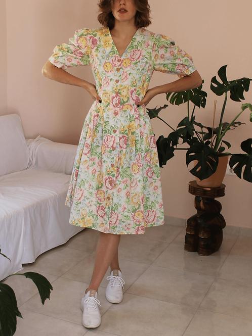 90s Austrian Vintage Floral Dress by Meico - (EU40-42)