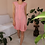 Thumbnail: 80s Vintage Gingham Dress in Pink - (EU40-42)