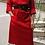 Thumbnail: Vintage Maxi Slip Wool Dress in Red