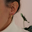 Thumbnail: Vintage 70s Gold Plated Hoop Earrings