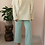 Thumbnail: Vintage 70s Flared Pants in Green and White Cross Print