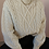 Thumbnail: 90s Vintage  Cable Knit Sweater in Cream