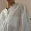 Thumbnail: 90s Vintage Wave Blouse in White - (EU46)