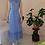 Thumbnail: 70s Vintage Prairie Dress in Blue - (EU40)