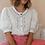 Thumbnail: Vintage Balloon Sleeves Blouse in White - (EU44)