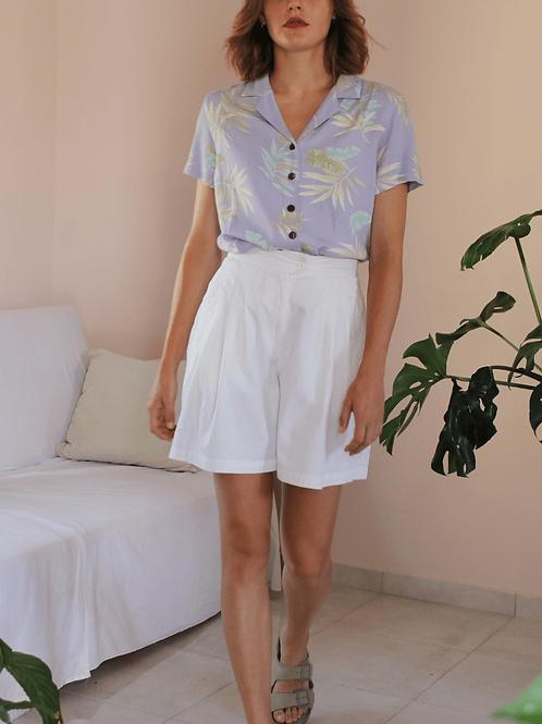 90s Vintage Cotton Shorts in White ( EU 40)