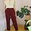 Thumbnail: 90s Vintage Cotton Trousers in Burgundy, W31/L29,5