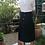 Thumbnail: Vintage Maxi Button Down Black Skirt