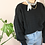 Thumbnail: 80s Vintage 100% Wool Knit Sweater in Black