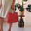 Thumbnail: Vintage Red Straw Handbag